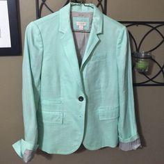 J. Crew linen blazer J. Crew mint green linen blazer J.Crew Factory Jackets & Coats Blazers