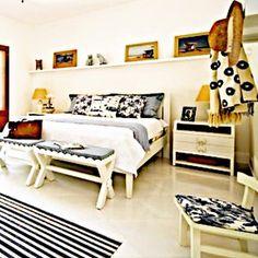 """@biapupomc   Esse é um projeto meu q eu """"adoro#! É um quarto de hospedes em uma casa de campo. Como a cliente é carioca mas mora em SP tem varias referencias a praia como no tecido da Rio de Janeiro da #again. @quartosetc @entreposto #bykamy #blue #praia #interiores #inspiração #ideiasdedecoração #designdeinteriores"""