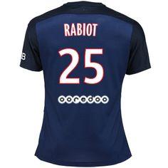Maillot de foot PSG Domicile 2015/2016 (25 Rabiot) Bleu