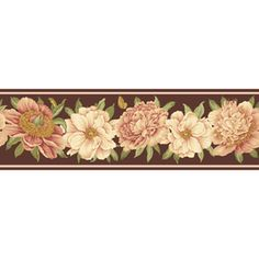 Waverly 7 1 2 Ashton Peony Unpasted Wallpaper Border