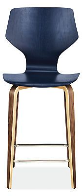 Pike Counter Stool with Wood Base - Modern Counter & Bar Stools - Modern Dining Room Furniture - Room & Board