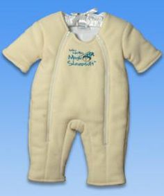 The Baby Merlin Magic Sleepsuit is designed for babies who are outgrowing swaddle blankets but still need to be contained for a more restful sleep.