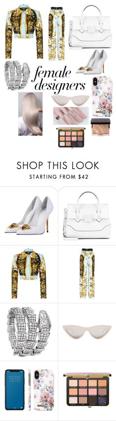 """""""At last home sweet home"""" by minty-bunny ❤ liked on Polyvore featuring Versace, Bulgari, CÉLINE, iDeal of Sweden, Kylie Cosmetics, Donatella, internationalwomensday, pressforprogress, FemaleDesigners and ByWomenForWomen"""