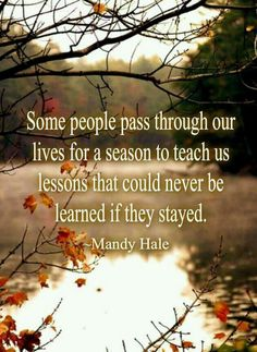 """Some people pass through our lives for a reason to teach us lessons that could never be learned if they stayed."" Mandy Hale quote on learning #quotes #life #learning"
