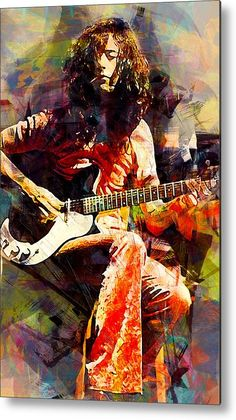 Jimmy Page artwork ( Led Zeppelin ) Arte Led Zeppelin, Led Zeppelin Poster, Robert Plant Led Zeppelin, Jimmy Page, Rock Posters, Band Posters, Hard Rock, Rock And Roll, Alternative Rock