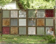 Image result for corrugated metal fence
