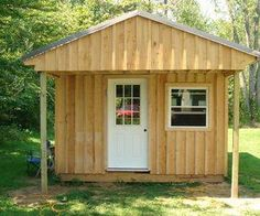 Garden shed or cabin.
