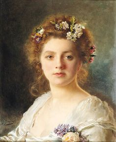 Flora - Gustave Jean Jacquet  19th century