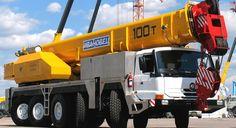 Heavy Mobile Crane 100 T. Heavy Weight Lifting, Lift Heavy, Crawler Crane, Running Gear, Fire Engine, Big Trucks, Engineering, Construction, Vehicles
