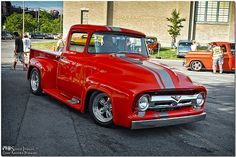 Here For The Party | The owner of this beautiful '56 F-100 a… | Flickr