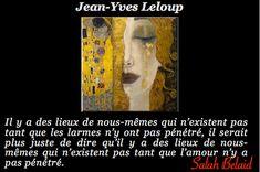 La Pensée Du Jour: Les Larmes  - Jean-Yves Leloup