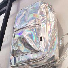 Sac holographique sac à dos hologramme argent sac par pingypearshop