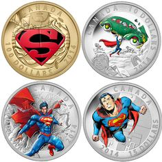 Let the Man of Steel add some of his Kryptonian strength to your coin collection with the Superman Comic Book Cover Coins.  Whether you like the Man of Steel as he first appeared in Action Comics #1 or prefer Supes' New 52 look,
