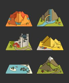 Creation of 9 animated pop-up book pages for the Air Pano iOS app.