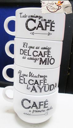 MUS APILABLES #coffeelovers www.lateteramugs.com Coffee And Books, I Love Coffee, Best Coffee, Coffee Gif, Funny Coffee Mugs, Coffe Bar, Cafe Quotes, Cafe Rico, Love Cafe