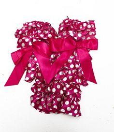 Lolly Leg Warmers- Pink & White Polka Dot