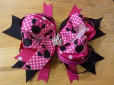 Order this Minnie Mouse princess bow and many more from Scarlie's Mommy.com