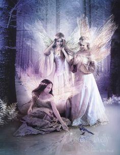 Fairytale Winter 8 x 10 Fantasy Art Print by GingerKellyStudio