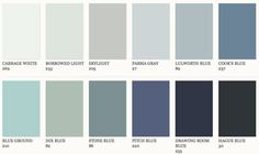 Farrow & Ball Blue paint colours, for spare bedroom walls. Farrow Ball, Farrow And Ball Paint, Blue Paint Colors, Wall Colors, House Colors, Farrow And Ball Bedroom, Ok Design, Blue Walls, Bedroom Colors