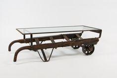 Vintage Hand Truck Coffee Table van IdeaCustomFurniture op Etsy
