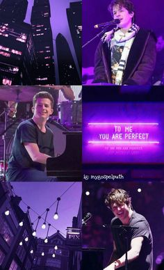 Purple Wallpaper, Iphone Wallpaper, Charlie Puth Instagram, Queens Wallpaper, Shawn Mendes Wallpaper, Playing Piano, King Of Music, Disney Music, Best Friend Goals