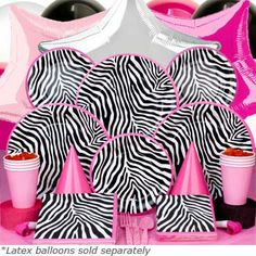 Zebra Print Party Favors and Decorations