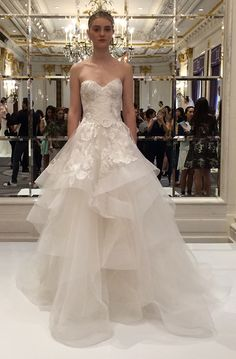 Flipping out over this princess-y @marchesafashion wedding dress! | Brides.com