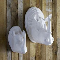 Papier-Mâché Animal Sculpture - large rhino | west elm