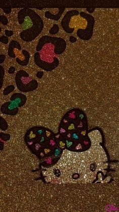Bling Wallpaper, Iphone Wallpaper Glitter, Brown Wallpaper, Love Wallpaper, Cellphone Wallpaper, Disney Wallpaper, Hello Kitty Art, Sanrio Hello Kitty, Here Kitty Kitty