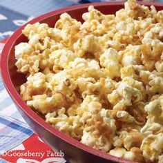 Gooseberry Patch Recipes: Almond Toffee Popcorn. Movie night will be extra special with this crunchy, nutty popcorn.