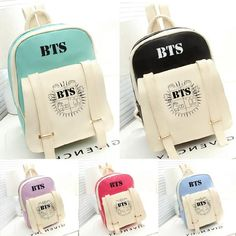 Cheap bts style, Buy Quality new korean directly from China bangtan bts Suppliers: 2017 New Korean KPOP Bangtan BTS PU Backpack Mochila Bag Preppy Style Student Girls Schoolbag Women Backpacks for Teenage Bts Backpack, Satchel Backpack, Leather Backpack, Tote Bag, White Backpack, Travel Backpack, Pu Leather, Mochila Kpop, Mochila Do Bts