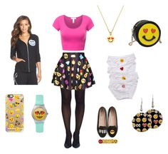 """""""Fun with emojis"""" by curlyelizabeth ❤ liked on Polyvore featuring Tobi, cheekfrills, LAUREN MOSHI, Casetify, Kate Spade and Chiara Ferragni"""