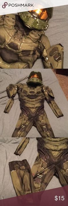 Disguise Halo Deluxe Master Chief Muscle Child Costume 89975