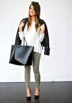 Leather and khaki