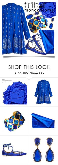 Blue Monochrome by capricat on Polyvore featuring Juliet Dunn, Aquazzura, Diane Von Furstenberg, DOMINIQUE AURIENTIS, Kenneth Jay Lane and Urban Decay