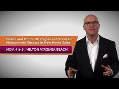 New Home Sales University 2013 is coming to the Hilton Virginia Beach November and The theme: Superior Sales Management In an Upswing Market. Watch the video to find out why this is an event that you DON'T want to miss! Sales Management, Virginia Beach, Lyon, Improve Yourself, How To Find Out, November, New Homes, University, Training