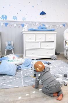 Die 27 Besten Bilder Von Elefanten Babyzimmer Fur Jungen In Blau Grau