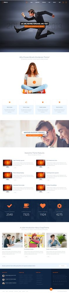 Miracle is Premium Responsive Multipurpose template. Bootstrap Framework. Retina Ready. Parallax Scrolling. Revolution Slider. http://www.responsivemiracle.com/cms/miracle-premium-responsive-multipurpose-html5-template/