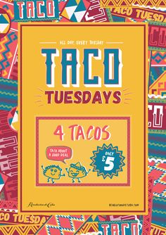 Taco Tuesdays Mexican theme flyer