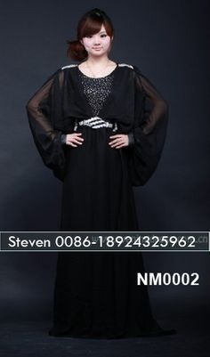 Black abaya fashion batau islamic fashion maxi dress 2013 #GZcatherine