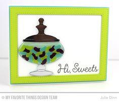 Candy Jar Companions, Candy Jars Die-namics, Stitched Rectangle Frames Die-namics - Julie Dinn #mftstamps