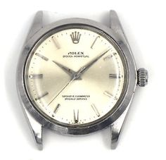 204d551f345 GENTS ROLEX 1002 OYSTER PERPETUAL WATCH CAL 1560 STAINLESS STEEL BOX PAPERS  1955