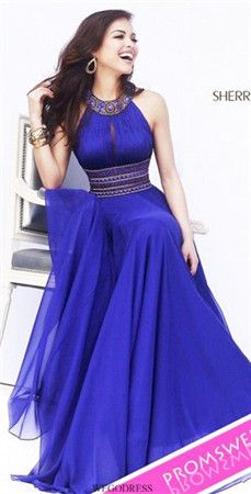 Shop for long prom dresses and formal evening gowns at Simply Dresses. Short casual graduation party dresses and long designer pageant gowns. Elegant Dresses, Pretty Dresses, High Neck Prom Dresses, Dress Long, Royal Blue Long Dress, Dark Blue Prom Dresses, Elegant Gown, Amazing Dresses, Blue Maxi