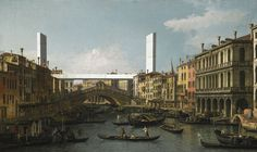 "malapartecafe: "" Rialto Bridges, Venice. From new landmark serie. 2015. ©malapartecafe """