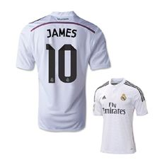 adidas Real Madrid James #10 Soccer Jersey (Home 2014/15)