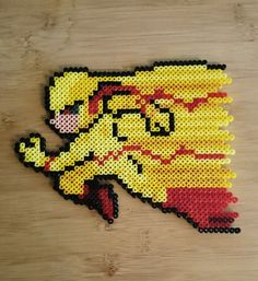 DCs Dr. Zoom aka Reverse Flash made from perler beads! Its about 23cm x 18cm. He makes a great wall hanging