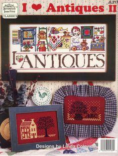 Schematic cross stitch I Love Antiques 1/3