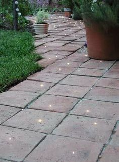 DIY Kits for fibre optic lighting on a path or a deck.
