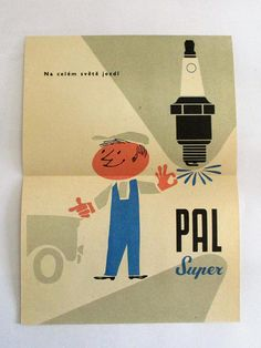Vintage PAL Super Motokov Leaflet Advertisement 1960's