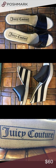Black and white Juicy couture mules  size 9! Almost brand new ! Used about twice very comfortable and chic 😍😍😍 Juicy Couture Shoes Mules & Clogs